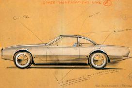 """Skisse til bilen """"Avanti"""" av Loewy"""
